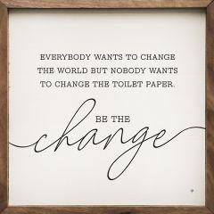 Minimal Be the Change Wall Art