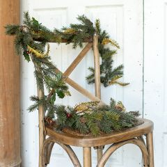 Mixed Pine and Holly Berries Garland