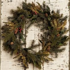 Mixed Pine and Holly Berries Wreath
