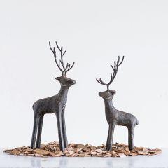 Modern Cast Iron Deer Figurine