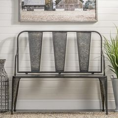 Modern Country Metal Bench
