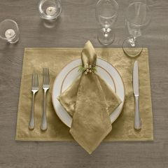 Modern Elegance Poinsettia Holiday Placemats Set of 4