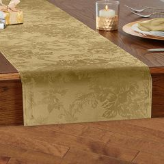 Modern Elegance Poinsettia Holiday Table Runner