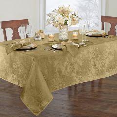 Modern Elegance Poinsettia Holiday Tablecloth