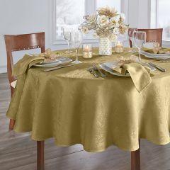 Modern Elegance Poinsettia Round Tablecloth