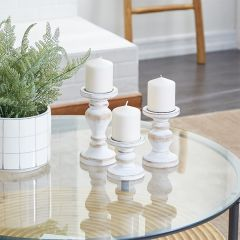 Modern Farmhouse Wooden Candle Holders