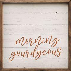 Morning Gourdgeous Whitewash Framed Sign