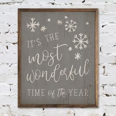 Most Wonderful Time Rustic Wall Sign