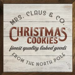 Mrs. Claus Christmas Cookies Sign