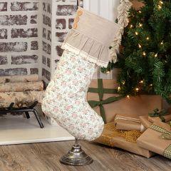 Neutral Ruffle Christmas Stocking Set of 2