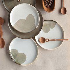 Neutral Tones Stoneware Plate Bundle