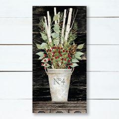 No. 4 Floral Vase Holiday Canvas Wall Art