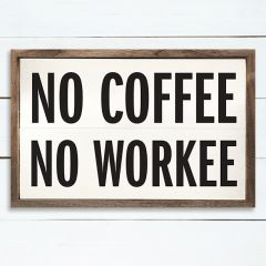 No Coffee Sign