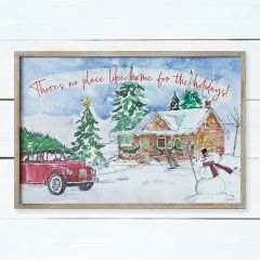 No Place Like Home Framed Holiday Sign