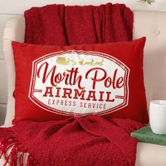North Pole Airmail Reversible Accent Pillow