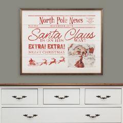 North Pole News Holiday Wall Decor