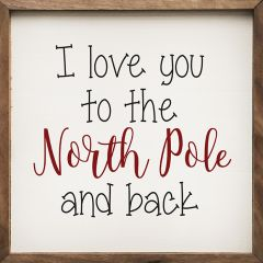 North Pole Whimsical Wall Sign