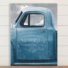 Old Blue Truck Canvas Wall Art