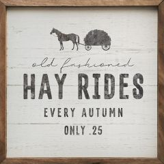 Old Fashioned Hay Rides Wall Sign