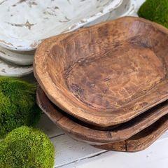 Old Wood Dough Bowl