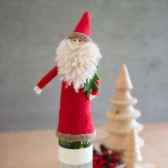 Old World Santa Felt Wine Topper Bundle