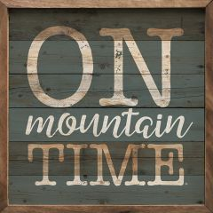On Mountain Time Framed Rustic Wall Art