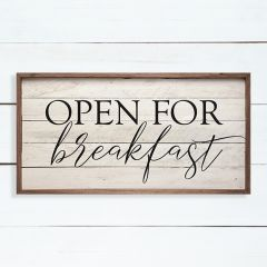 Open for Breakfast Cottage Sign