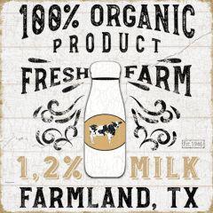 Organic Milk Farmhouse Wall Art