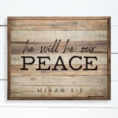 Our Peace Scripture Wall Art