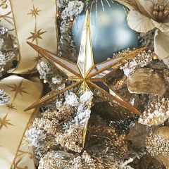 Oversized Mirrored Star Ornament Set of 2