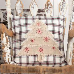 Plaid Pattern Christmas Pillow