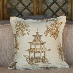 Pagoda Pattern Accent Pillow