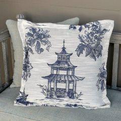 Pagoda Print Pillow