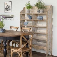 Painted Farmhouse Preserve Display Shelf