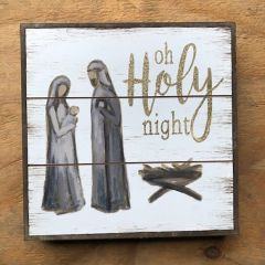 Painted Holy Family Wood Sign