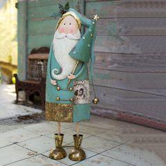 Painted Standing Santa Figurine