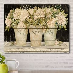 Pallet Style Floral Wall Art