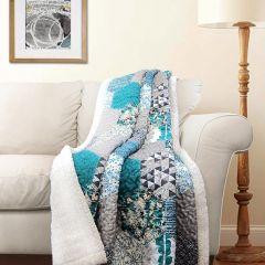 Patchwork Sherpa Throw Blanket