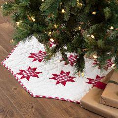 Patchwork Star Christmas Tree Skirt