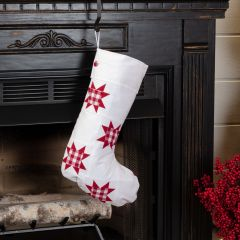Patchwork Star Holiday Stocking