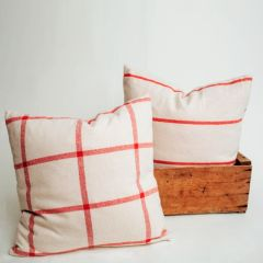 Patterned Cotton Throw Pillows Set of 2