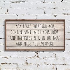 Peace Blessing Wall Art