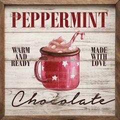 Peppermint Chocolate Winter Wall Art