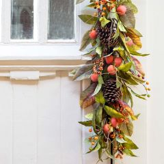 Persimmon And Pinecone Garland