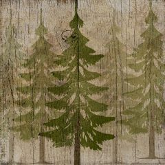 Pine Tree Forest Canvas Wall Art