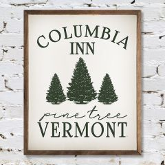 Pine Tree Vermont Wall Sign