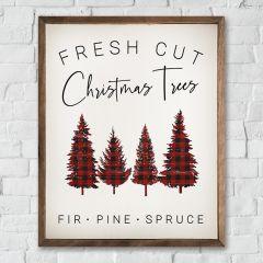 Plaid Christmas Trees Wall Art