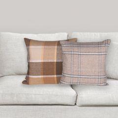 Plaid Cotton Accent Pillow Set of 2