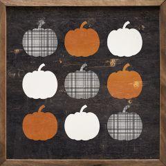 Plaid Pumpkins Wall Decor
