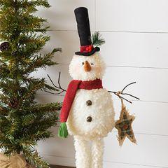 Plush Snowman Figure Standing